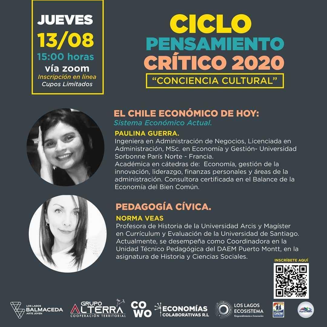 """CICLO PENSAMIENTO CRITICO CONCIENCIA CULTURAL: """"El Chile Económico de Hoy"""" – """"Pedagogía Cívica"""""""