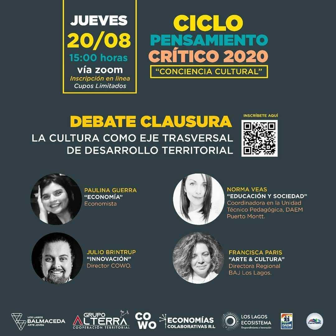 """DEBATE CLAUSURA: """"La Cultura como eje transversal de desarrollo territorial"""""""