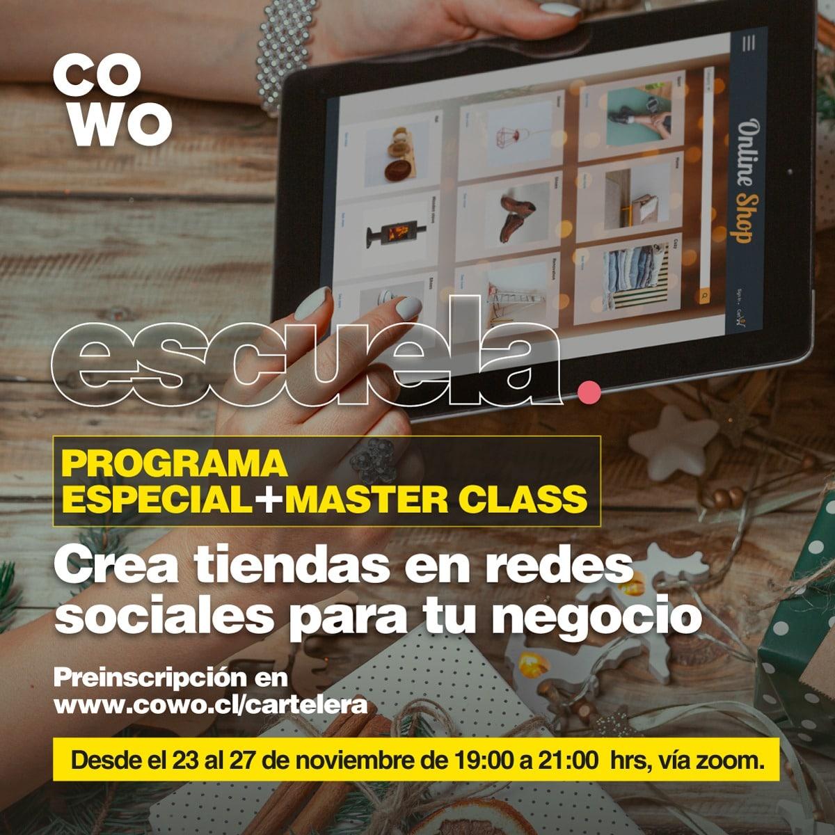 Preinscríbete al programa: Crea tiendas en redes sociales para tu negocio