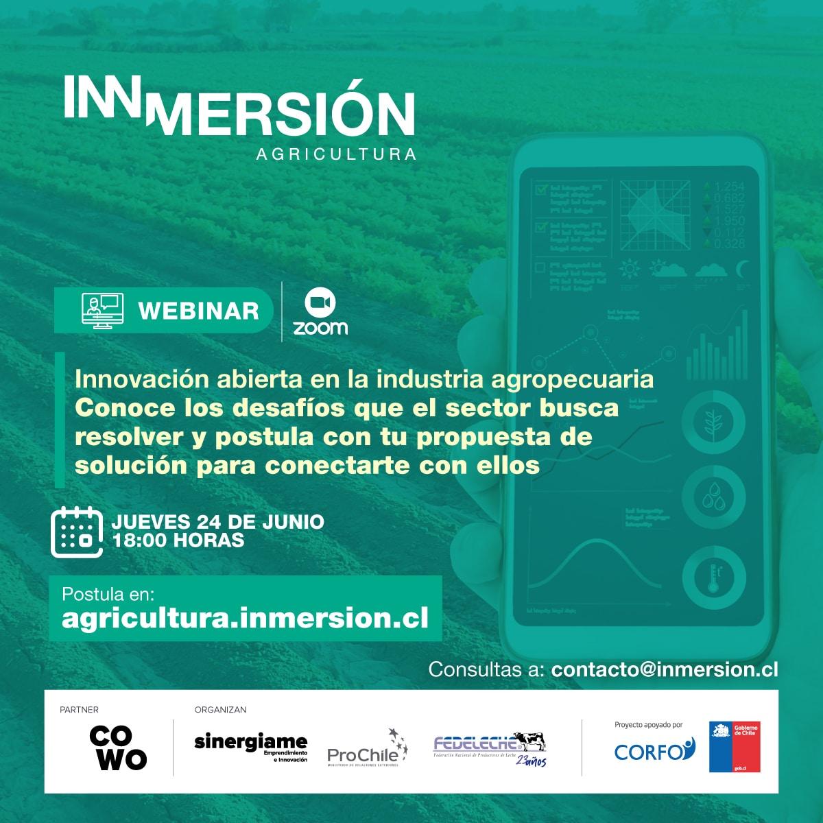 Webinar informativo Inmersión Agricultura 24 de junio